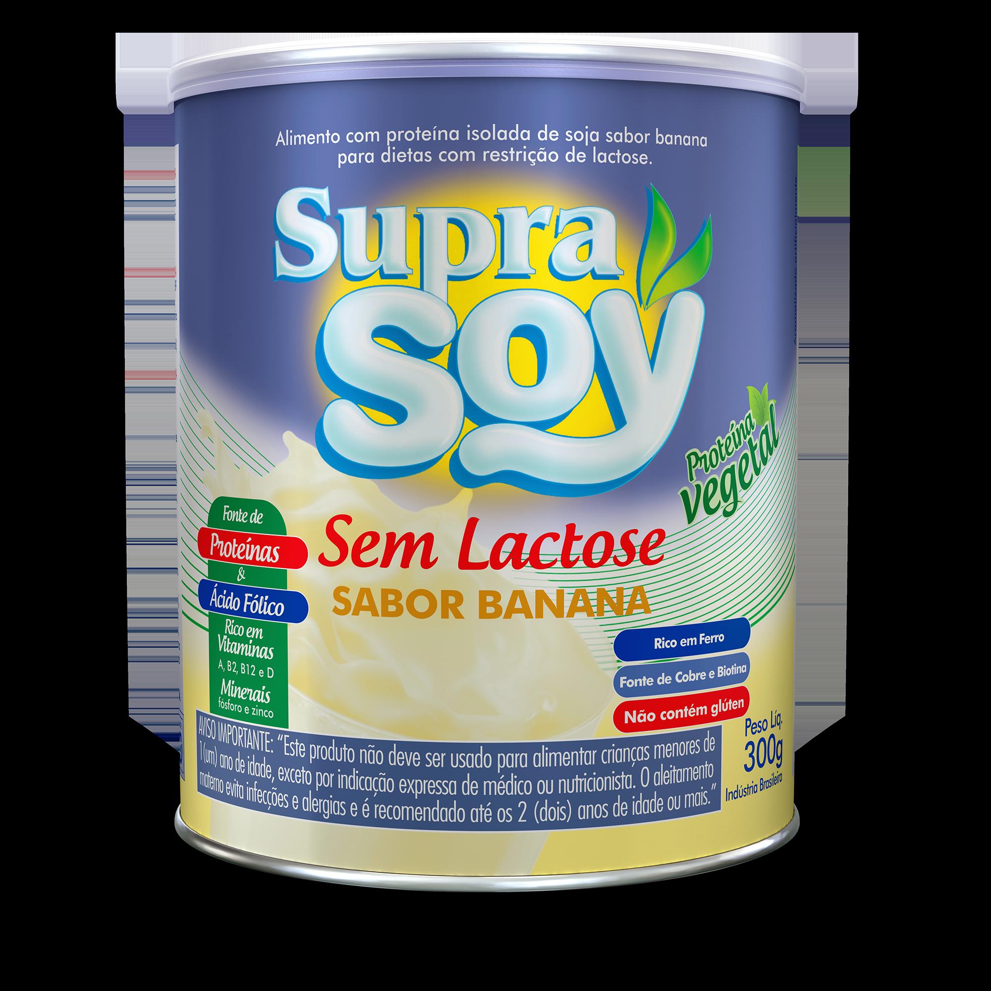 SupraSoy Sem Lactose Sabor Banana